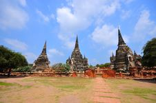 Free Ancient Temple Of Ayutthaya, Thailand. Royalty Free Stock Image - 18486716