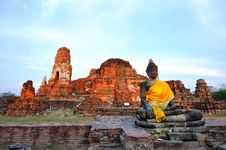 Free Ancient Temple Of Ayutthaya, Thailand. Royalty Free Stock Images - 18486779