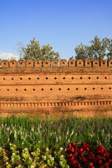 Free Ancient Chiangmai City Wall. Royalty Free Stock Photography - 18487577