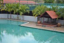 Free Swimming Pool With Coconut Tree Stock Photos - 18487833
