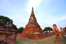 Free Ancient Temple Of Ayutthaya, Thailand. Stock Photography - 18488132