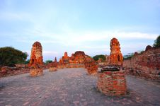 Free Ancient Temple Of Ayutthaya, Thailand. Stock Photo - 18488170