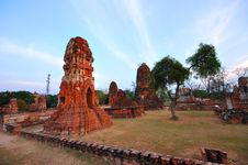 Free Ancient Temple Of Ayutthaya, Thailand. Royalty Free Stock Photography - 18488197