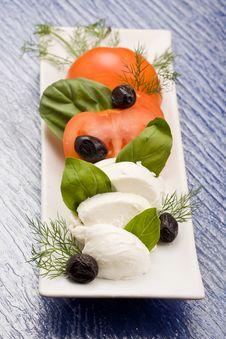 Tomatoe Mozzarella Salad Stock Photos
