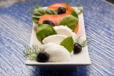 Free Tomatoe Mozzarella Salad Royalty Free Stock Photography - 18488277