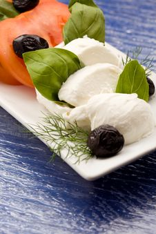 Tomatoe Mozzarella Salad Stock Image