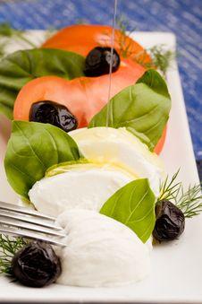 Tomatoe Mozzarella Salad Royalty Free Stock Photo