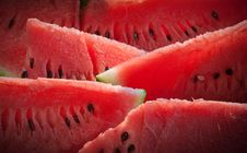 Free Arranged Slices Of Watermelon Royalty Free Stock Photo - 18488585