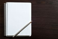 Free Blank Spiral Note Pad Stock Photography - 18488642