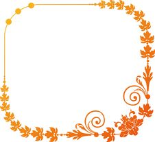 Free Flower Frame Royalty Free Stock Photo - 18488795