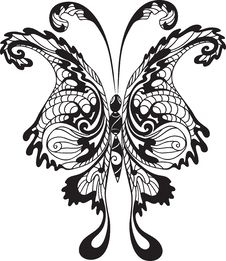 Free Black Butterfly Stock Images - 18489034