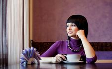 Free Girl In Cafe Royalty Free Stock Photo - 18489355