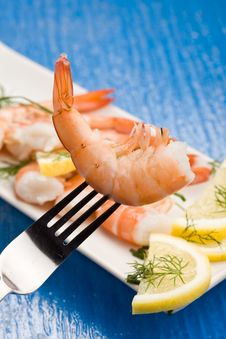 Free Prawns Appetizer Royalty Free Stock Images - 18489379