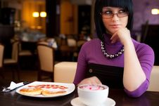 Free Girl In Cafe Royalty Free Stock Image - 18489386