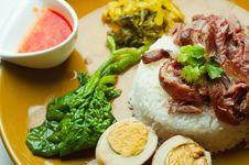 Free Stewed Pork Leg On Rice Stock Image - 18489921