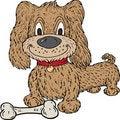 Free Cartoon Dog And Bone Royalty Free Stock Images - 18490129
