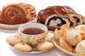 Free Tea With Baking Royalty Free Stock Photos - 18493508