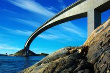 Picturesque Norway Landscape. Atlanterhavsvegen Royalty Free Stock Photography