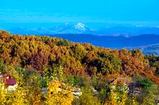 Free Autumn Over The Forest Stock Photography - 18490222