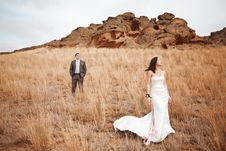 Couple Near The Mountains Royalty Free Stock Images
