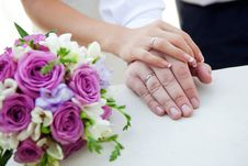 Free Hands Of Bride And Groom Royalty Free Stock Image - 18490936