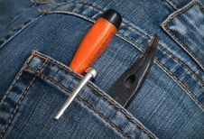 Free Screwdrivers Pliers Royalty Free Stock Images - 18491229
