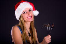 Free Cute Christmas Girl Stock Photography - 18491282