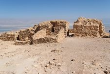 Free Ruins Of Ancient Masada Fortress On Dead Sea Stock Photography - 18491452