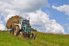 Free Hay Transportation Royalty Free Stock Photos - 18492158