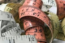 Free Tape Measures Royalty Free Stock Photography - 18492277