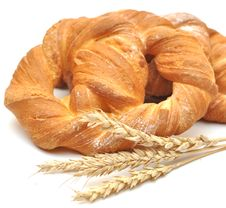 Free Bread With Wheat Ears Stock Photography - 18492532