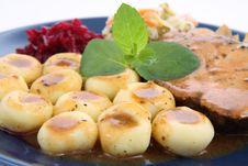 Free Pork Steak And Dumplings Stock Images - 18492744
