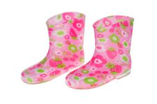 Free Colorful Children Rubber Boots Stock Photos - 18492913
