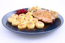 Free Pork Steak And Dumplings Stock Photos - 18493293