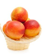 Free Nectarines In Basket Royalty Free Stock Photo - 18493625