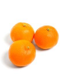 Free Fresh Tangerines On White Stock Image - 18493691