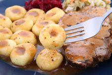 Free Pork Steak And Dumplings Stock Images - 18493764