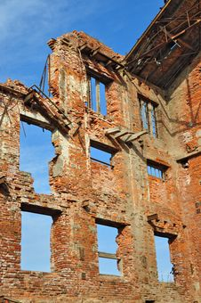 Free Ruins Of An Old Industrial Building Stock Image - 18493801