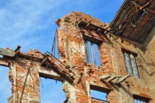 Ruins Of An Old Industrial Building Royalty Free Stock Image