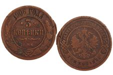 Free Antique Russian Coin Stock Image - 18496371