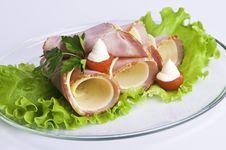 Ham And Cheese Rolls Stock Photo