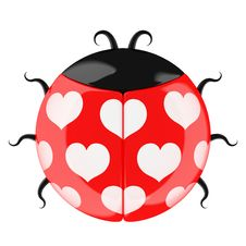 Free Cute Lady Bug. Stock Photos - 18498933