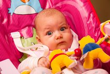 Free Cute Baby With Toys Royalty Free Stock Image - 18499066