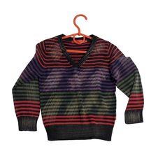 Free Children S Stripy Sweater. Stock Photo - 18499190