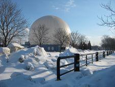 Air Ball In Winter Stock Photos