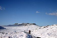 Lone Walker In The Snow