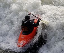 Free Kayak On The Rapids Royalty Free Stock Image - 1850126