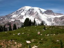 Free Mt. Rainier Royalty Free Stock Image - 1850966