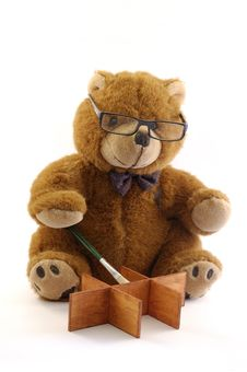Free Painter Teddy Bear Royalty Free Stock Image - 1851316