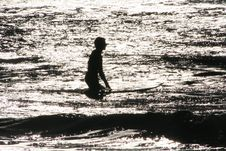 Surfer Silhouette Stock Photography